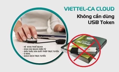 Chữ ký số Viettel-CA Cloud không cần USB token
